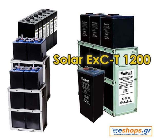 Μπαταρία Unibat 2V Solar ExC-T 1200 (1202Ah c120) Unibatpower for life BATTERIES (SOLAR 2V)