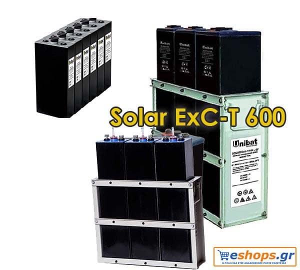 Μπαταρία φωτοβολταϊκών Unibat 2V UNIBATPOWER FOR LIFE Solar ExC-T 600 (603Ah c120)