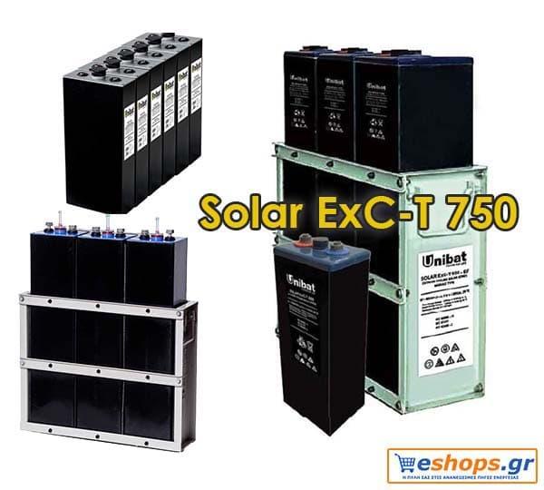 Μπαταρία Unibat 2V Solar Solar ExC-T 750 Unibatpower for life (751Ah c120)
